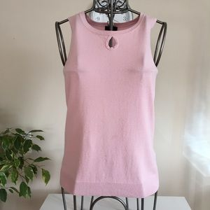 Chic by Jacob pink knitted tank top